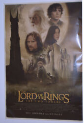 2592 Lotr Poster - The Two Towers - 26x39 Laminated-double Sided
