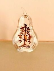 Christmas Classic Steuben Glass Partridge in a Pear Tree 18 k gold new
