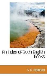 An Index Of Such English Books
