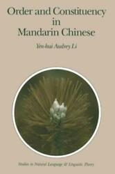 Order And Constituency In Mandarin Chinese