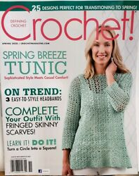 Crochet Spring 2020 Spring Breeze Tunic Fringed Skinny Scarves Free Shipping Cb