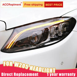 2pcs For Benz C-class W205 Led Headlights Assembly Led Lens Projector 2015-2020