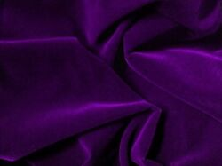 PURPLE ACETATE TRIPLE VELVET FABRIC UPHOLSTERY 45quot; BY THE YARD $11.00