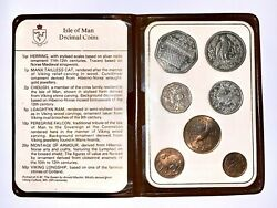 1983 Isle Of Man Coin Set - Includes The Viking Ship 50p Aa Die Mark