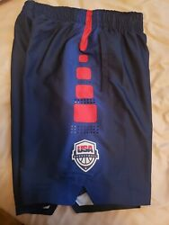 Team Usa Basketball Authentic Nike Shorts Official Size M Rare