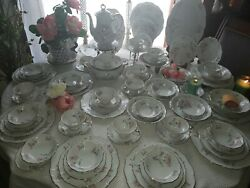 Irish Rose By Edelstein - Dining Set - Plus Serving Pieces - Amazing Deal