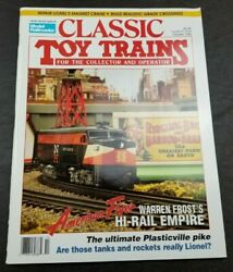 Classic Toy Trains For The Collector Magazine - October 1992 - Model Railroader