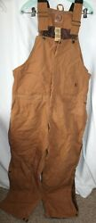 Berne Menand039s Brown Winter Insulated Bib Overalls Coveralls 2xlr 2x Large Regular