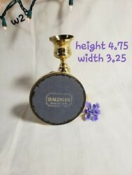 Baldwin Brass Candlesticks 5 Tall Solid Brass Tapered Candle Holders Set Of 2