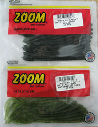 2 - Zoom Bait Original Worm - 20/ct Pack - 6 - Two Popular Colors