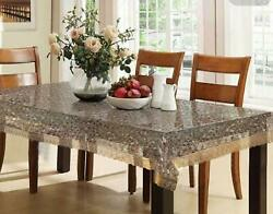 Kuber Industries Pvc 6 Seater 3d Transparent Dining Table Cover Free Shipment
