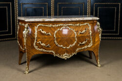 High Quality French Dresser in Louis Quinze Style Marble Platter