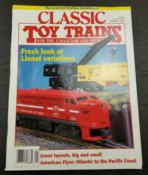 Classic Toy Trains For The Collector Magazine -september 1995- Model Railroader