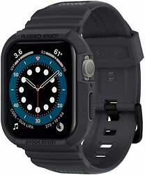 Apple Watch 6 Se 5 4 Case 44mm Spigen Rugged Armor Pro Cover -charcoal Gray