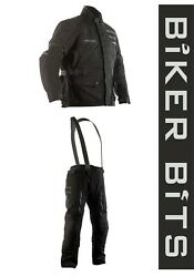 Rst Proseries X-raid Black Ripstop Textile Motorcycle Adventure Jacket/trousers