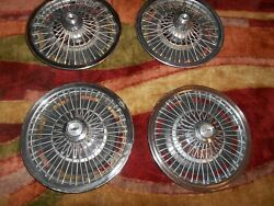 Nice Set Of 4 - 1960s Chevrolet Wire Wheel Covers 14 Hubcaps