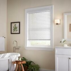 CUSTOM CUT Home Decorators White Cordless 2quot; Premium Faux Wood Blind $65.00