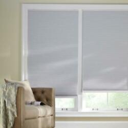 CUSTOM CUT Home Decorators Shadow White 9 16 in. Blackout Cordless Cell Shade $33.25