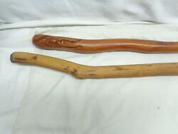 Two Vintage Antique Walking Sticks 1 Light Stick And The Other By Allee Usa