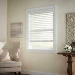 CUSTOM CUT Home Decorators White Cordless 2 1 2 in. Premium Faux Wood Blind $55.00