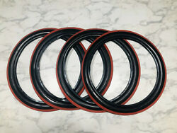 4 Nos 15 C5615 Western Auto Supply Wizard Portawalls Tire Wall Black Red Band
