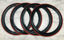 4 Nos 14 C5614 Western Auto Supply Wizard Portawalls Tire Wall Black Red Band