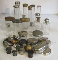 Collection Of Art Deco Perfume Bottles And Tops