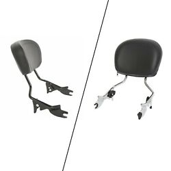 Detachable Backrest Sissy Bar And Pad For Harley Electra Street Road Glide 09-21