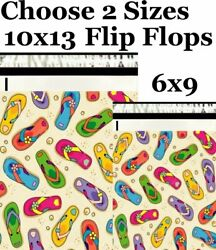 Choose 6x9 10x13 Flip Flops Boutique Designer Poly Mailers Fast Shipping