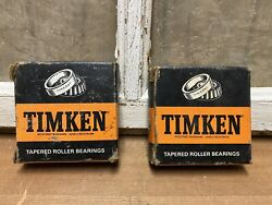 Matching Pair Of Timken Tapered Roller Bearings 5 Lm48548 Lm48510 Nos