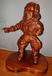 Airplane Pilot Chuck Yeager Sculpture Statue 14d X16w X25t 23.5lbs 120 Off