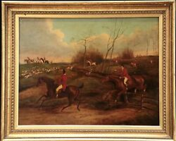 Andldquofox Hunters And Hounds Henry Alken 19th C Signed Oil On Panel Exchristies.