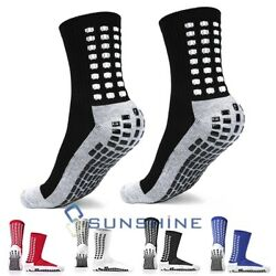 3 Pairs Sport Socks Anti Slip W Grip Soccer Men Football Basketball Sock Premium