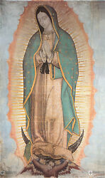 Our Lady Of Guadalupe On Rolled Museum Canvas 24x36 Religious Realism