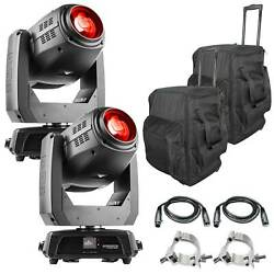 2 Chauvet Dj Intimidator Hybrid 140sr Moving Head Lights W Cable Clamp And Case