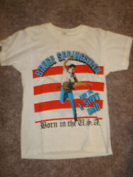 Vintage Bruce Springsteen Born In The Usa 1984-1985 Tour Concert T-shirt New
