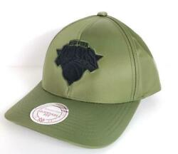 New York Knicks Ny Exclusive Military Green Snapback Mitchell And Ness Nba Hat Nwt