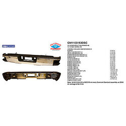 Replacement Step Bumper Assembly For Chevrolet, Gmc Rear Gm1103183dsc