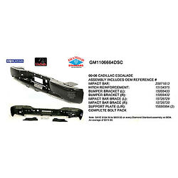 Replacement Bumper Impact Bar For Cadillac Chevrolet Rear Gm1106664dsc