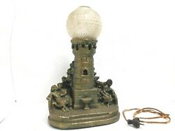 Vintage Art Deco Lamp Unknown Maker For Parts Fenton Type Glass Shade Marked 801