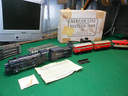 Vintage Marx Ny Central Tin Litho Wind-up Train Set Exc. Condition With Box