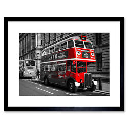 Photo Composition Vintage Antique Routemaster London Bus Framed Wall Art Print
