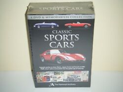 Classic Sports Cars 4 Dvds And Memorabilia Collection Box Set