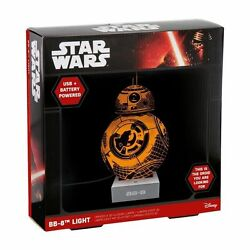 Star Wars Pp3096sw Bb8 Light Plastic Multi-colour Lamp A 3d Illusion Usb Micro