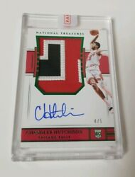 2018-19 National Treasures Chandler Hutchison Rookie Patch Auto Rpa Emerald /5