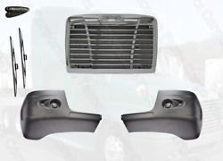 Freightliner Century Bumper Corner W/o Hole And Chrome Grille W Bug Screen