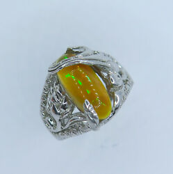 Natural Welo Opal 925 Silver 9ct 14k 14ct 18k 18ct Gold Platinum Ring