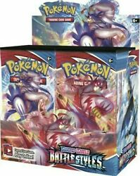10 Battle Styles Booster Pack Lot - Factory Sealed From Box Pokemon Cards