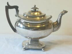 Old Sheffield Plate Coffee Pot Circa 1820 Large Size