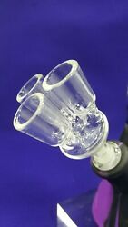 New Large Revolver Glass Bowl 3-arm Taster Bowl 14mm/male Joint